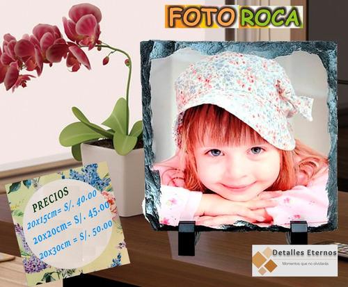 foto roca personalizada /mayolica /detalles /amor