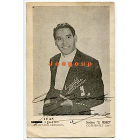 Foto Tarjeta Autografo Artista Musical Gitano Juan Legido