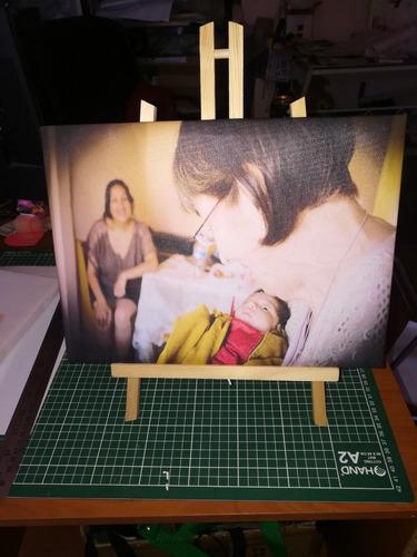 foto telas con atril