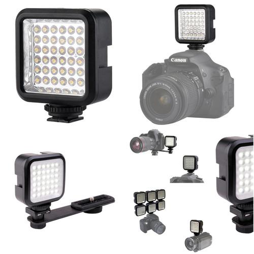 foto y video - luz de 36 led recargable - chromo inc