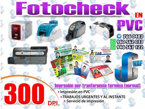 fotocheck pvc