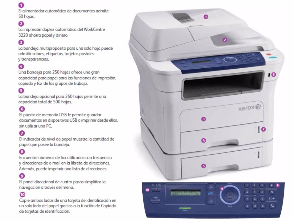 Fotocopíadora Laser Xerox 3220 Nuevas Envio Gratis! - $ 10.999,00 en ...