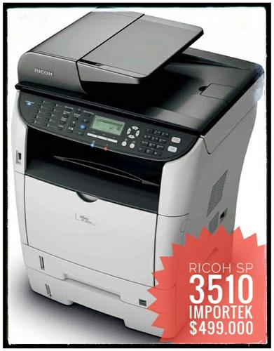 fotocopiadora multifuncional ricoh sp 3510 promocion