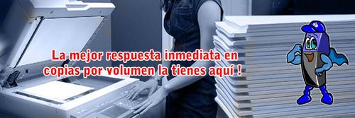 fotocopias b/n por volumen + delivery + tienda fisica en las