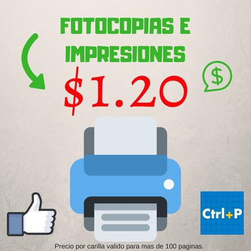 fotocopias e impresiones al mejor precio