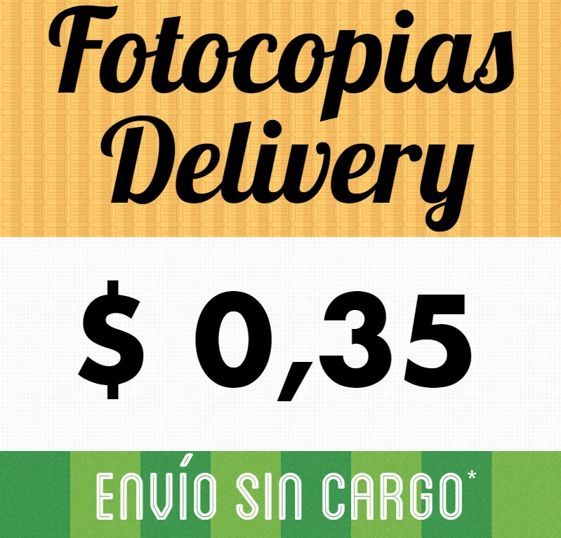 Fotocopias E Impresiones Low Cost En 24hs Delivery Gratis - en ...