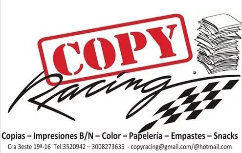 fotocopias, impresiones $30,color y b/n, empastes, papeleria