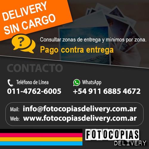 fotocopias impresiones anillados en 24hs delivery gratis