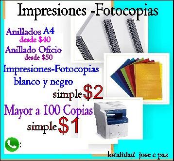 fotocopias impresiones blanco y negro , color  , volantes