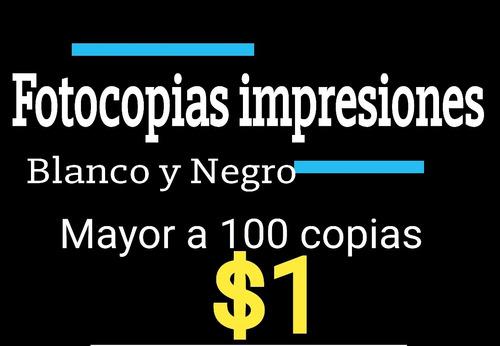 fotocopias impresiones b/n , color