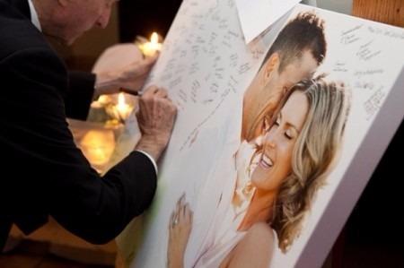 fotocuadro para firmar 100x70cm bodas cumpleaños 15 bautismo
