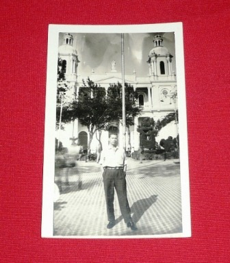 fotografía antigua catedral plaza de armas chiclayo 1962