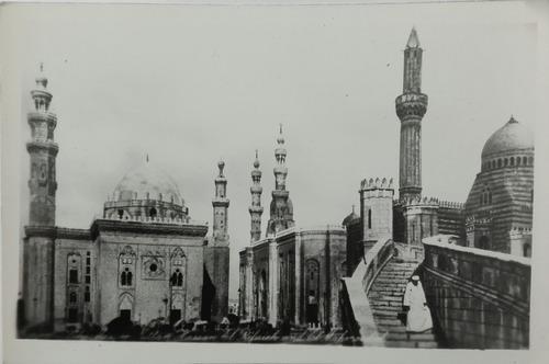 fotografia antigua el cairo egipto panoramica foto postal