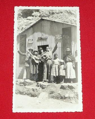 fotografía antigua músicos tambo la viuda sierra perú b/n