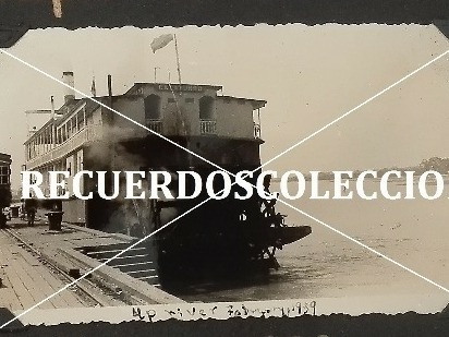 fotografia antigua original inedita vapor catatumbo barco