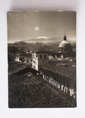 fotografía antigua popayan - vista volcan de purace