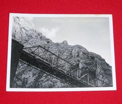 fotografía antigua puente el infiernillo ferrocarril central