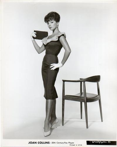 fotografia original de joan collins 20th century fox player