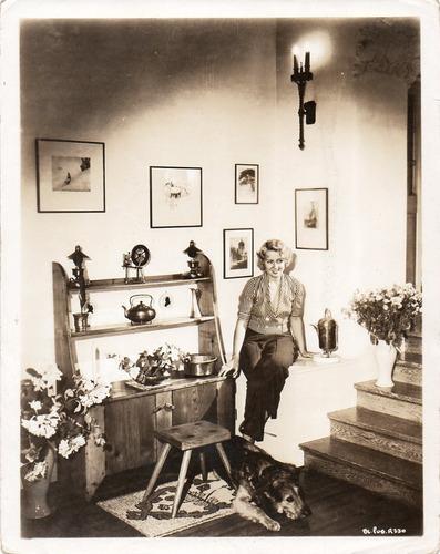 fotografía original de la actríz americana joan blondell