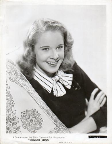 fotografía original de la actríz americana peggy ann garner