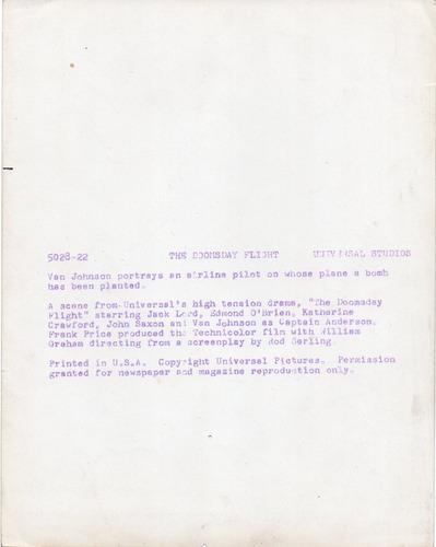 fotografía orignal the doomsday flight van johnson universal