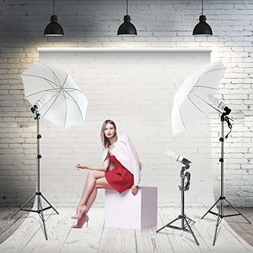 fotografía photo portrait studio 600w day light umbrella kit