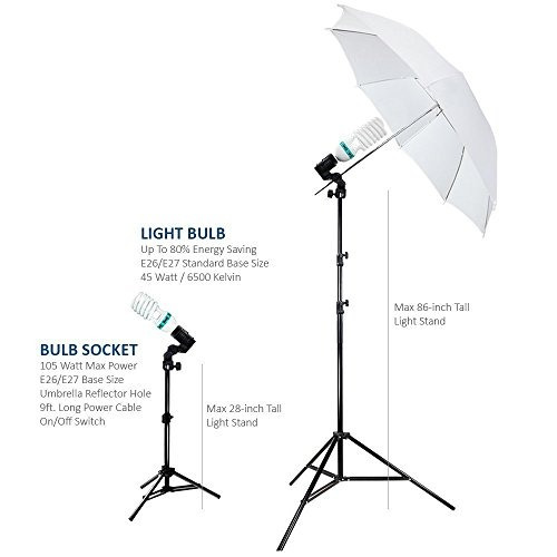 fotografia photo portrait studio 600w day light umbrella kit