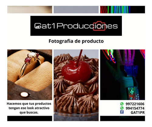 fotografía productos e commerce video youtube - gat1pr
