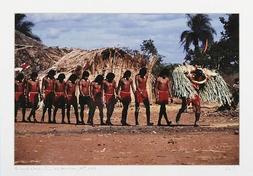 fotografia rosa galditano tribo xavantes mt 2003 22x30cm.
