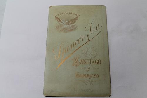 fotografia spencer y ca. santiago i valparaiso antigua chile