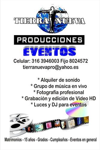 fotografía, vídeo profesional, alquiler de sonido, luces, dj