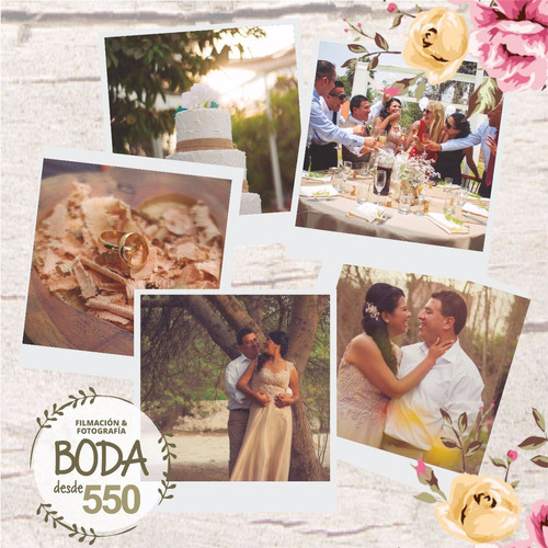 fotografía y filmación para bodas, cumpleaños y bautizos.