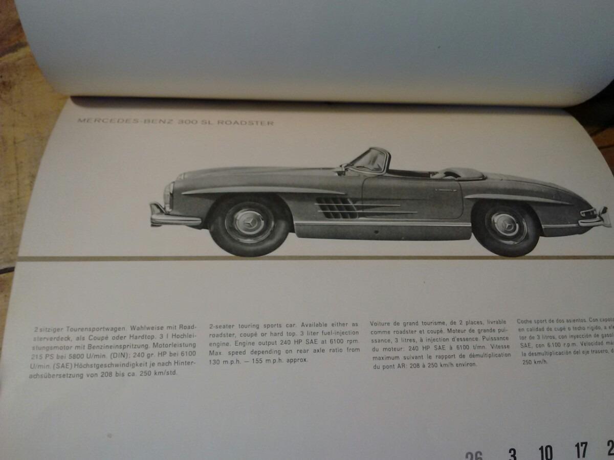 Calendario Del 1961.Fotografias De Mercedes Benz En Un Calendario De 1961