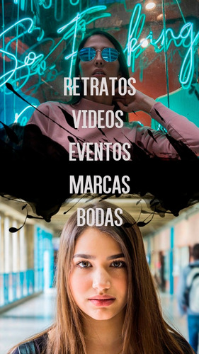 fotógrafo profesional y edición de vídeos