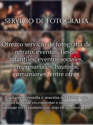 fotografo servicio fotografico