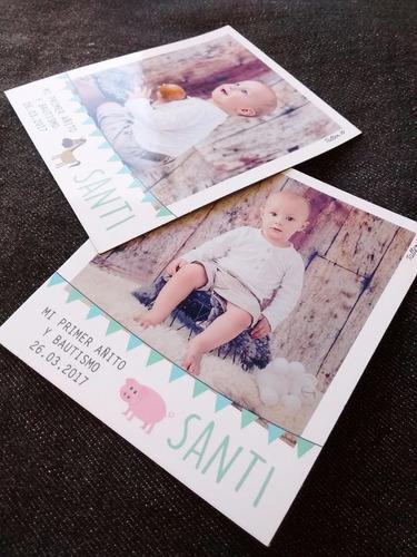 fotoimanes souvenir polaroid  22 unid. cumpleaños bautismo