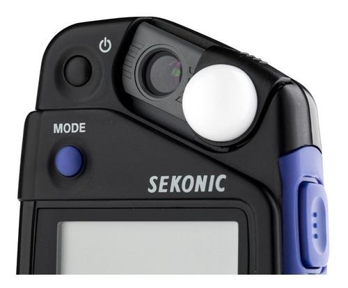 fotometro sekonic flashimetro luxometro l-308x p/ flash cine