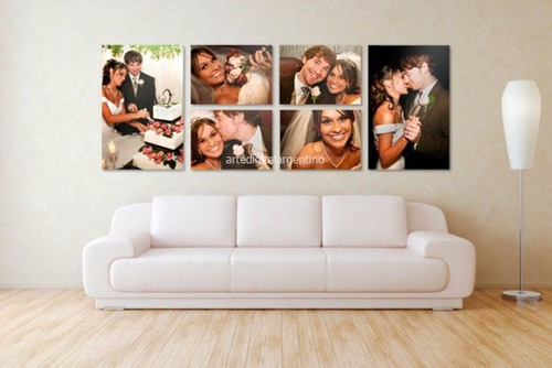fotomural casamiento 6 pieza 210x70cm  textura lienzo boda
