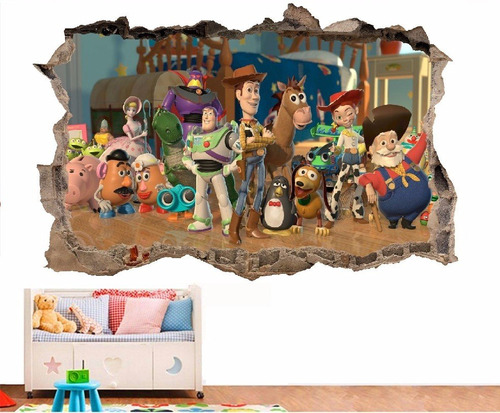 fotomurales 3d toy story - cali