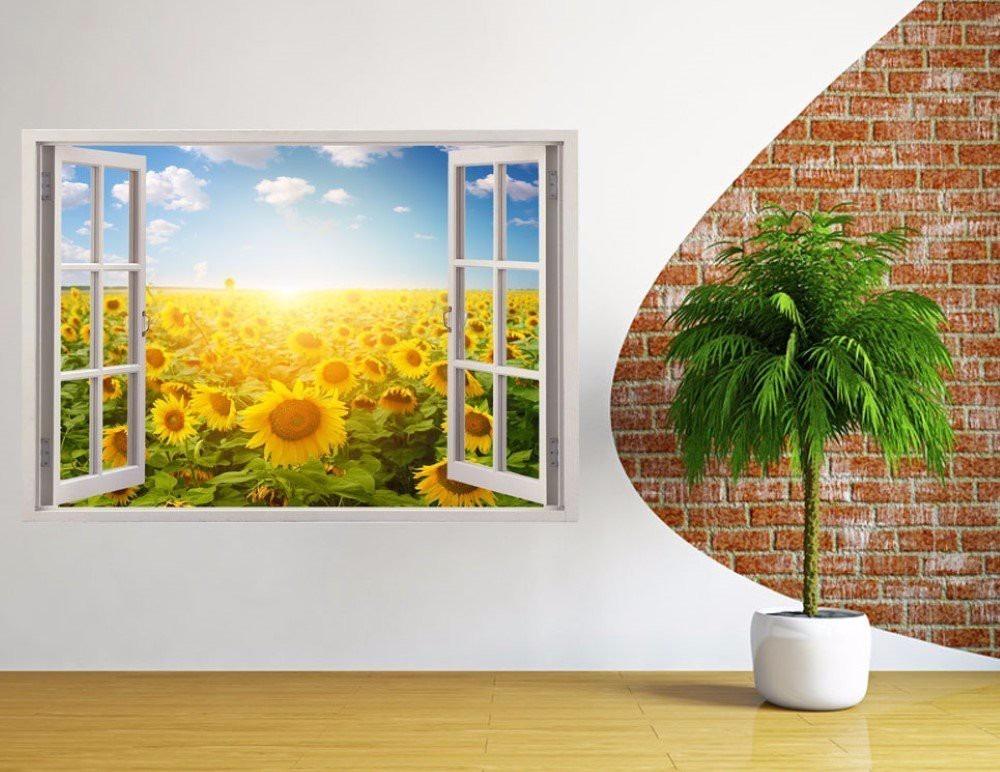 Fotomurales adhesivos decorativos estilo ventana 3d hogar - Fotomurales adhesivos pared ...