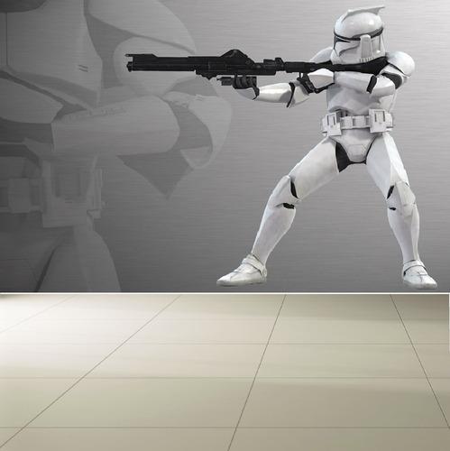 fotomurales adhesivos decorativos star wars - clone wars