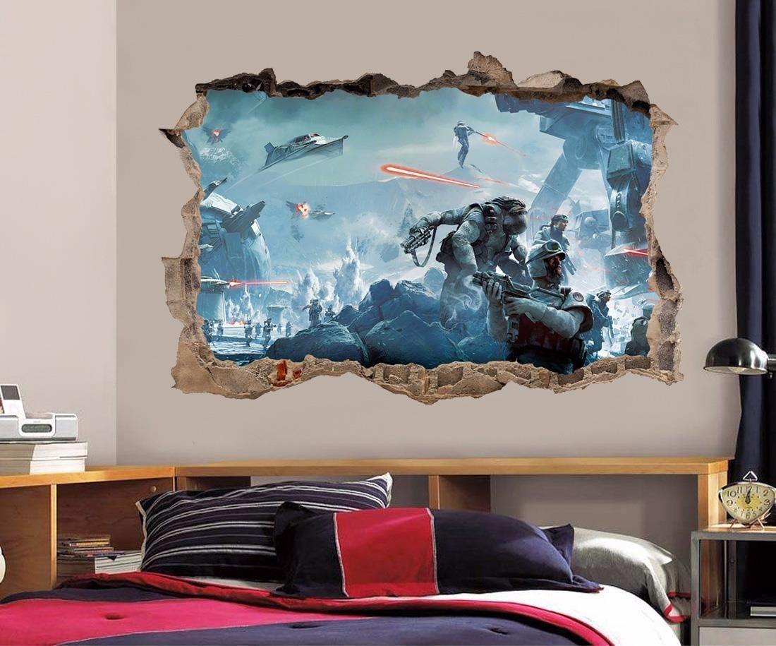 Fotomurales decorativos efecto 3d profundidad star wars for Fotomurales decorativos