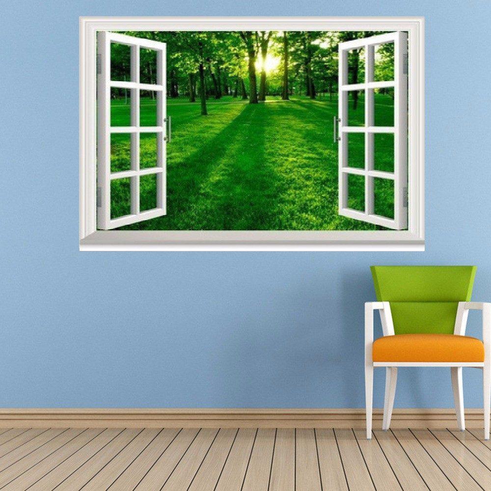 Fotomurales decorativos estilo ventana 3d hogar x 1m for Fotomurales decorativos