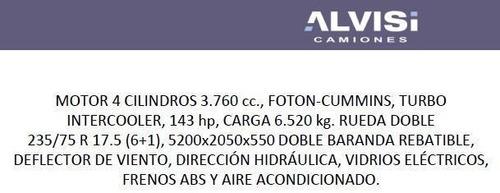 foton aumark foton para 6.5 toneladas de carga full + iva