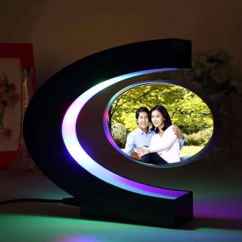 fotos retrato flutuante levitação magnética moldura luz led