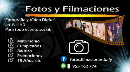 fotos y filmaciones