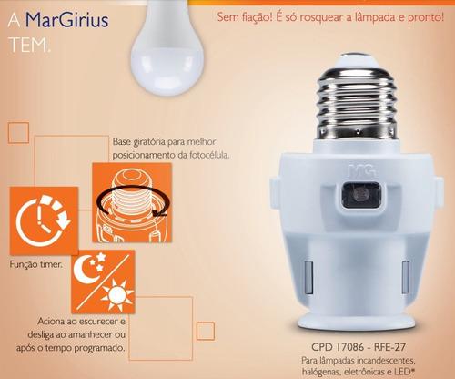 fotosoquete fotocélula timer microcontrolado automático