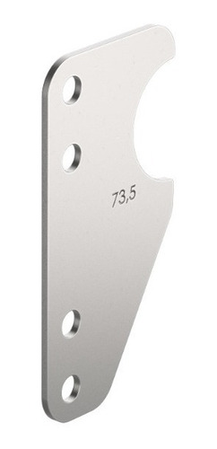 four link placa p/ soldar diferencial manga 73,5mm raw parts