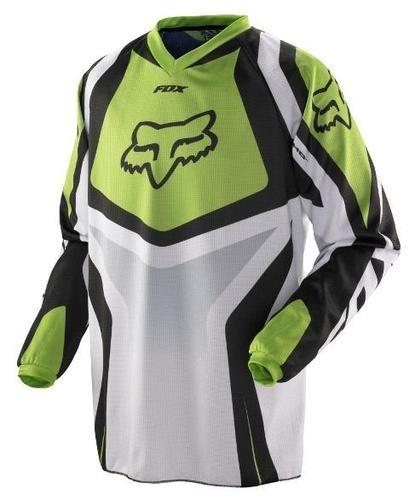 fox 180 jersey verde varias medidas playera u s en