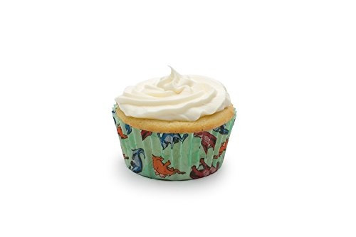 fox run 4928 dinosaur bake cups standard 50 copas